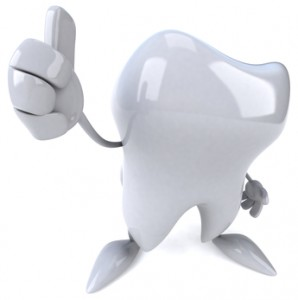 dental crown thumbs up